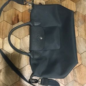 LongChamp small gray bag